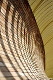 Shadows on arc wall Royalty Free Stock Photo