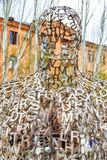 Shadows art piece by Jaume Plensa in Yerevan, the capital of A. Yerevan, Armenia - 09 April, 2017: Shadows art piece by Jaume Plensa in Yerevan, the capital of stock images
