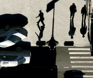 Shadows as people Royalty Free Stock Photography