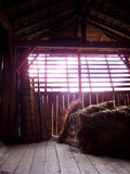 Shadows in the barn. The light comes from the outside into the barn Royalty Free Stock Photos