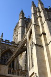 Shadows of Bath Abbey Royalty Free Stock Photos