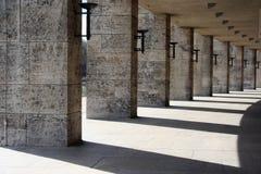 Shadows in Berlin Olympic Stadium Stock Image