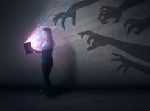 Shadows and Bible Stock Images