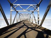 Shadows on bridge. Stock Photo