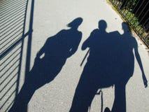 Shadows on the bridge Royalty Free Stock Photos