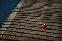 Shadows on the broken Apple Stock Images