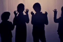 Shadows of children Royalty Free Stock Image