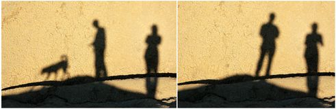 Shadows Collage 2 Stock Image