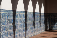 Shadows in the Convent Royalty Free Stock Image