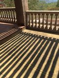 Balustrades & Shadows. Shadows created by the balustrades during the mid morning Stock Photos
