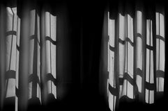 Shadows on curtains Royalty Free Stock Photography