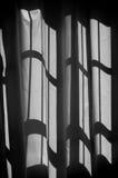 Shadows on curtains Stock Photo