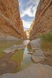 Shadows in a Desert Canyon Stock Photos