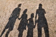 Shadows of the family Royalty Free Stock Photos