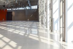 Shadows on the floor in commercial real estate royalty free stock photos