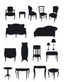 Shadows furniture Royalty Free Stock Image