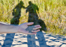SHADOWS AND HAND Royalty Free Stock Image