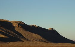 Shadows on hills in western Texas Royalty Free Stock Image
