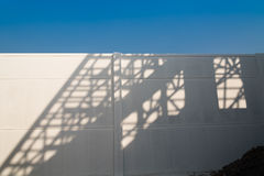 Shadows of house roof beam. Royalty Free Stock Image