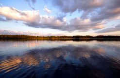 Shadows on the lake Royalty Free Stock Photo