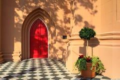 Shadows and Light Red Door Charleston South Carolina Stock Photography