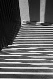 Shadows and light in a stairwell Royalty Free Stock Photos