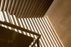 Shadows and light in a stairwell Royalty Free Stock Photo