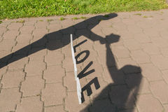 Shadows of love couple Stock Image