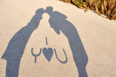 Shadows of lovers Royalty Free Stock Images