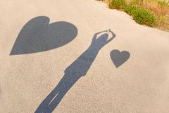 Shadows of lovers Stock Photography