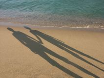 Shadows of loving couple Royalty Free Stock Photo