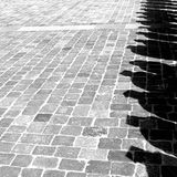 Shadows March. In the street. Concept royalty free stock images