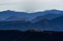Shadows of mountains no.1 Stock Image