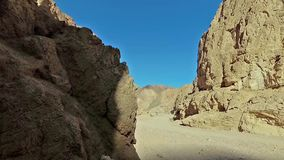 Shadows move along the rock stock video footage