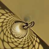 Shadows of net Stock Image