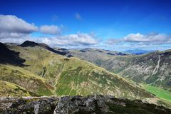 Shadows over the Langdales Stock Image