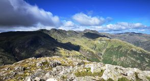 Shadows over the Langdales Stock Photos
