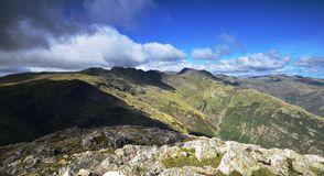 Shadows over the Langdales Royalty Free Stock Photo