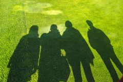 Shadows of people  Royalty Free Stock Photos