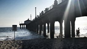 Shadows of the Pier Stock Photography