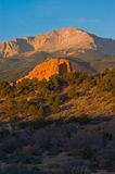 In The Shadows of Pikes Peak Stock Photo