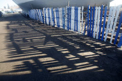 Shadows. In the port of tanger, morocco Stock Images