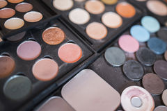 Shadows, powder and concealer pallets Royalty Free Stock Photography