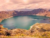 Shadows On The Quilotoa Lagoon, Ecuador Royalty Free Stock Image