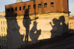 Shadows of Saint-Petersburg Stock Image