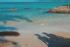Shadows on the sand Royalty Free Stock Photos