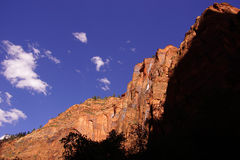 Shadows and steep cliff faces Stock Photography