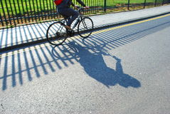 Shadows on the street Stock Image