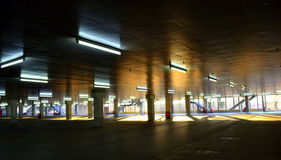 Empty Parking Garage Sunrise Shadows Royalty Free Stock Images