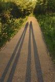 Shadows at Sunset Stock Photos